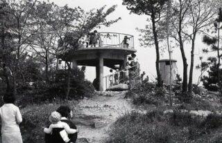 昭和40年ころの虎渓公園の展望台