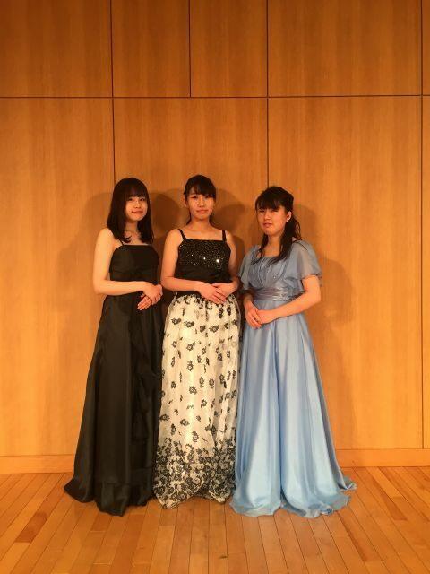 第40回四季のコンサート奏者 河田真由美さん、鈴木琴乃さん、下里唯さん