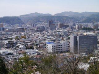 虎渓公園展望台から見る多治見市街